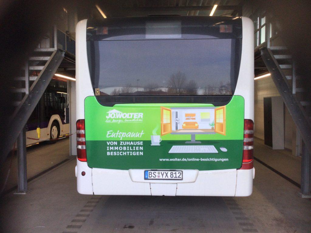 Makler Immobilien Braunschweig Werbung Buswerbung